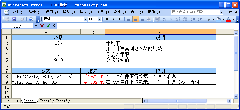 银行利率手抄报_【Excel函数】IPMT函数 - 曹海峰个人博客