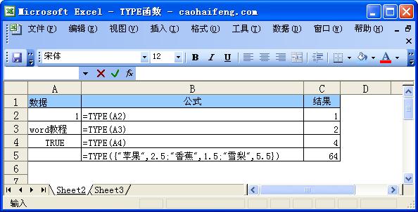 TYPE函数