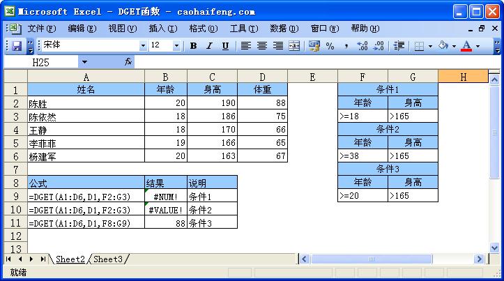 DGET函数